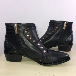 🆕 IVY KIRZHNER Soldier Studded Ankle Boot NWT